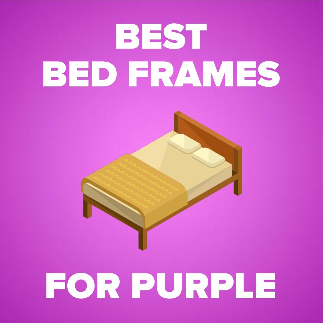 purple bed frame